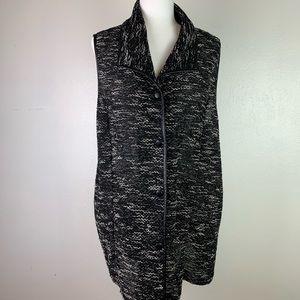 Chico's Knit Sweater Vest Black & White Size 3